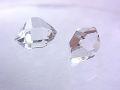 ハーキマーダイヤモンド ☆ 煌きが美しい高品質ルース(原石)2粒! ☆ 10 mm &9 mm/4 カラット