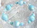 ラリマー & 水晶 ブレスレット ☆ hiro コレクション