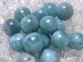 ラリマー 丸玉ビーズ (ディープカラー/9 mm〜10 mm) 《アウトレット》