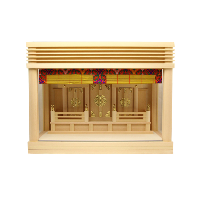 神棚 板葺箱入り三社宮〈F-7〉