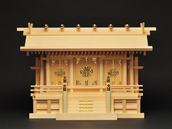 神棚 板葺屋根通し三社宮(小)〈I-7〉