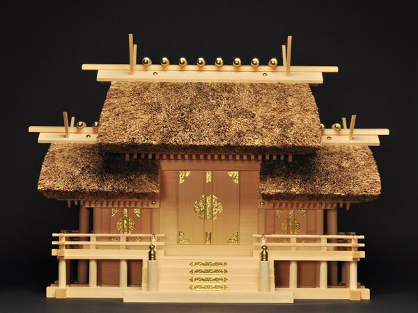 神棚 茅葺屋根違い三社宮〈K-4〉