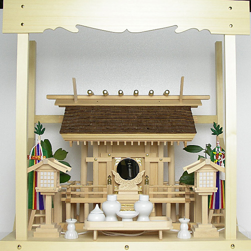 家庭用桧皮葺神棚Hシリーズ