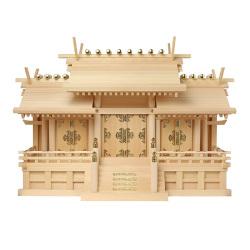 神棚 板葺屋根違い三社宮(大)〈I-4〉