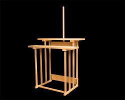 祭壇 折畳式 二段式 木曽桧