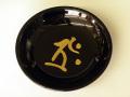 梵字ブラック皿 【タラーク】