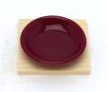 ワインレッド皿