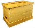 賽銭箱 箱型(鍵・引出付) 栓材 2尺5寸 (No.55)