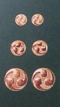左三つ巴紋金具(銅地生地)