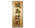 表札+彫刻料(レーザー彫刻タイプB:楷書)