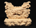 龍上彫神鏡台(木曽桧製) 4寸用