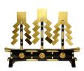 金幣三本立腰付 左三巴紋付 串高90cm