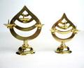 ローソク立 真鍮製三宝型 小