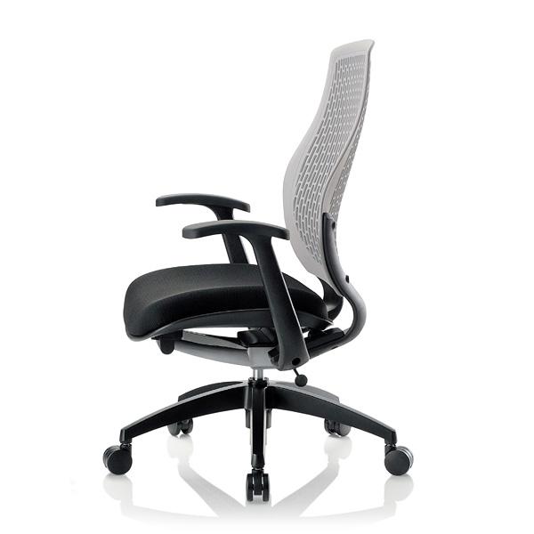 オフィスチェア/背もたれが身体に合わせてしなやかにフィット!/背色選択可/AICO(アイコ)/ハイバック/肘付/MA-1535BK-X