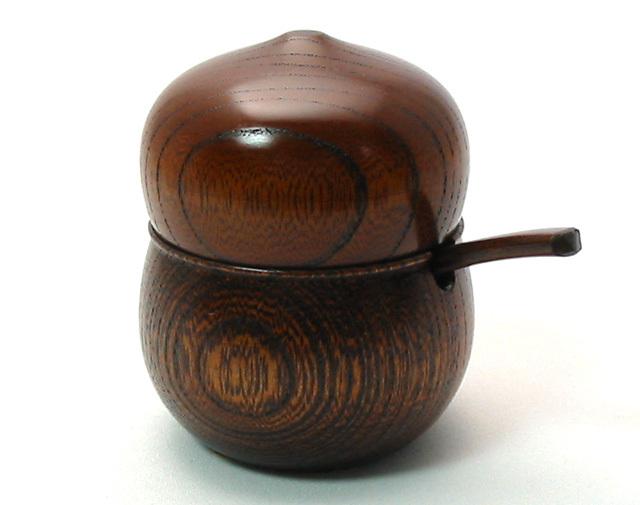 薬味入れ 欅 ひょうたん 木製 漆塗り