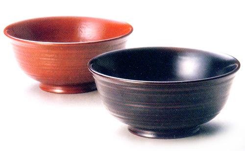 夫婦椀 荒筋 古代朱・溜 【送料無料】 木製 漆塗り ペア 木のお椀・味噌汁椀