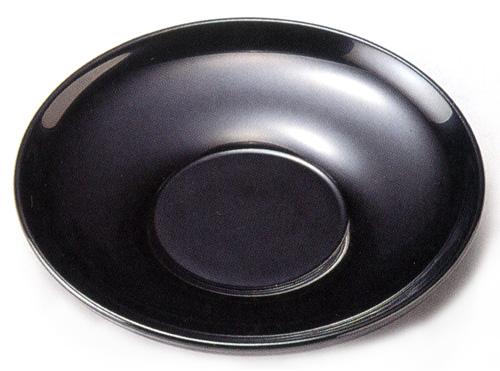 茶托 黒 3.5寸 5枚セット 【送料無料】 木製 漆塗り