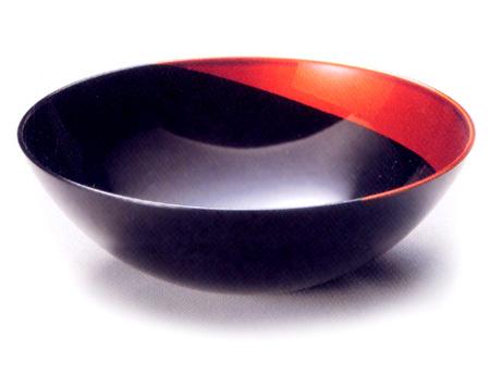 ハーフボール 中 月白檀(製造中止) 漆塗り 中鉢