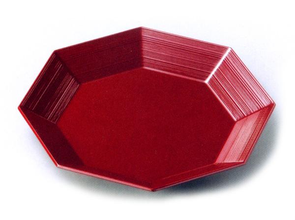 糸目八角盛器 木製 漆塗り 中鉢