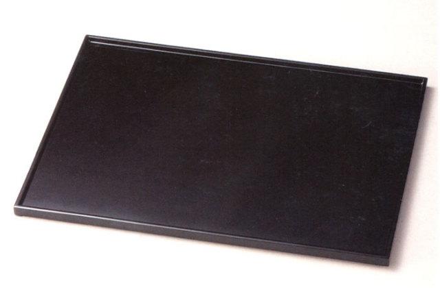 長角膳 黒 【送料無料】 木製 漆塗り ランチョンマット