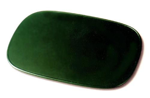 平膳 渕付小判 緑 【送料無料】 木製 漆塗り ランチョンマット