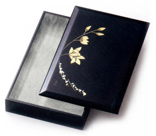 箔らん彫 レターセット 黒 (製造中止) 木製