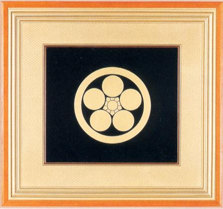 パネル 家紋入 【送料無料】 木製 漆塗り アート インテリア
