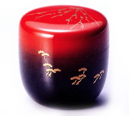 中棗 赤富士 日の出(製造中止) 木製 漆塗り お茶道具