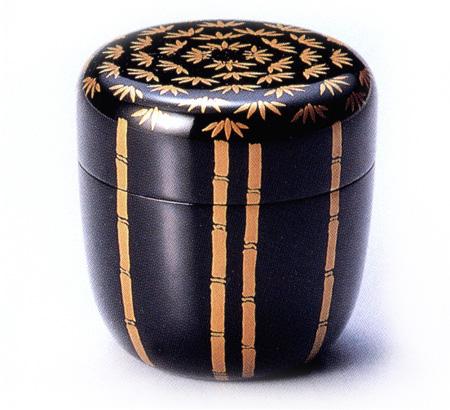 中棗 竹林 黒(製造中止) 木製 漆塗り お茶道具