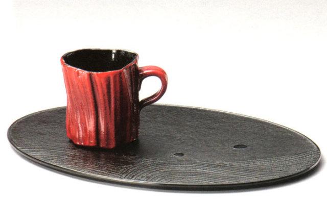 コーヒーカップセット 陶漆(製造中止) 木製 漆塗り