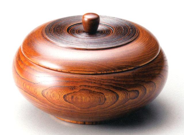 菓子器 栓 ふき漆(製造中止) 木製 漆塗り 蓋付き鉢