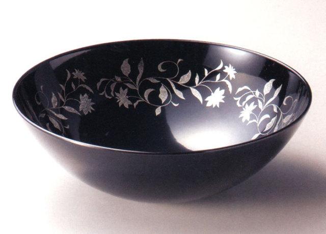 盛器 アールデコ 溜 漆塗り 中鉢