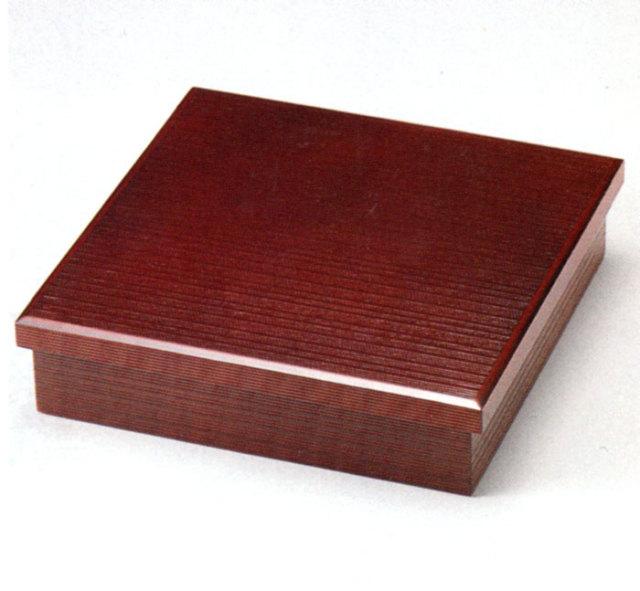松花堂弁当箱 溜 木製 木のランチボックス