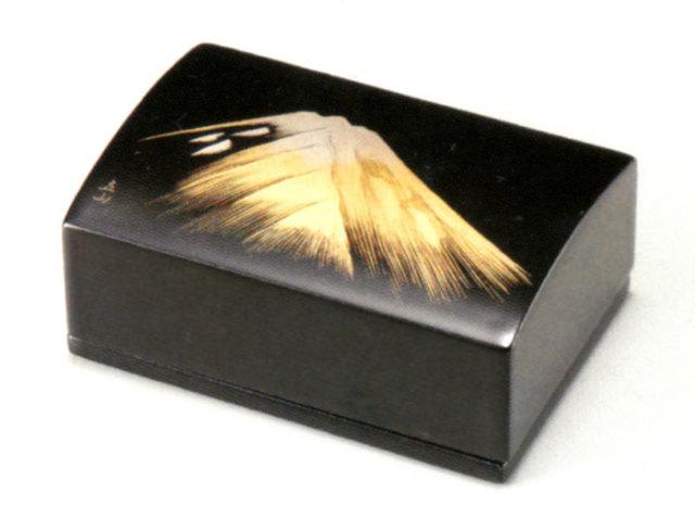 名刺箱 金富士 黒 【送料無料】 木製 漆塗り 名刺ケース・名刺入れ