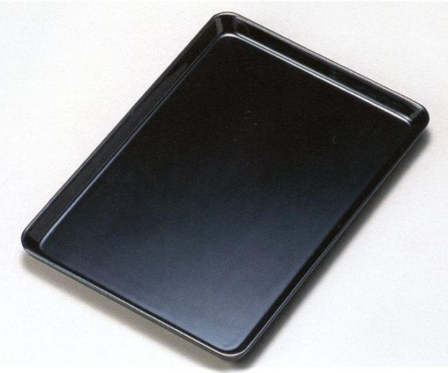 7.0 祝儀盆 黒 木製 漆塗り トレー
