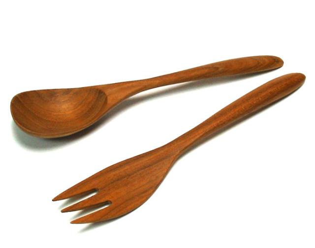 MOKU パスタ皿用カトラリー 木製 カトラリー