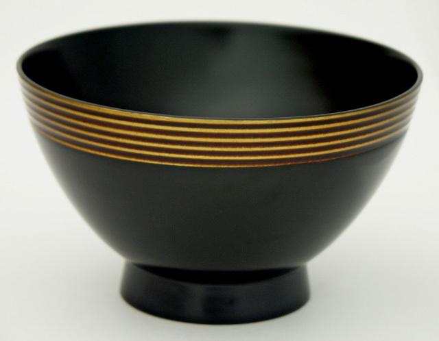 モダン汁椀 筋ぼかし(製造中止) 木製 漆塗り 木のお椀・味噌汁椀