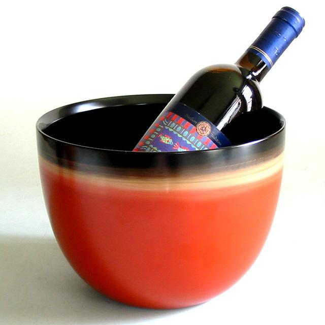 ワインクーラー 夢ぼかし 【送料無料】 漆塗り 中鉢