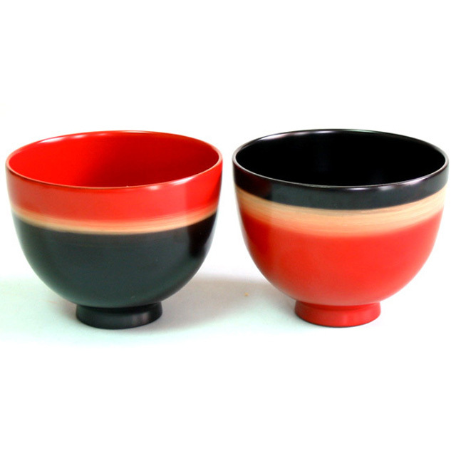 ペア小鉢 夢ぼかし 漆塗りデザートカップ