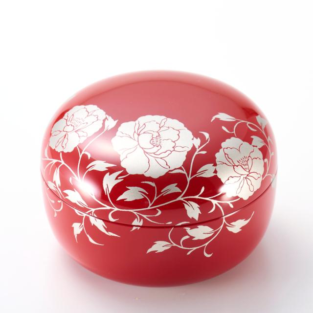 ボンボニエール 華唐草 朱 【送料無料】 漆塗りキャンディーボックス
