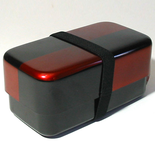 長角二段弁当箱 白檀市松 ランチボックス