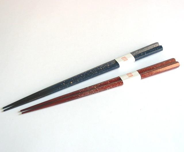 六角箸 吹き塗り(製造中止) 木製 漆塗り カトラリー