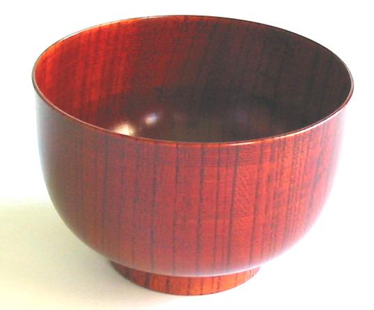 ぷっちり椀 欅 (製造中止)木製 漆塗り 木のお椀・味噌汁椀
