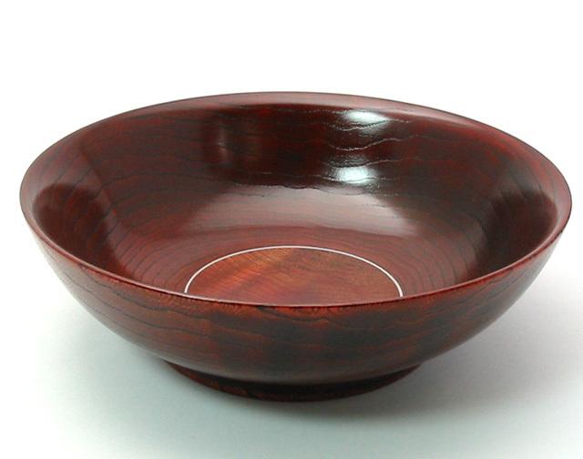 盛鉢 雅 赤染 木製 漆塗り 中鉢