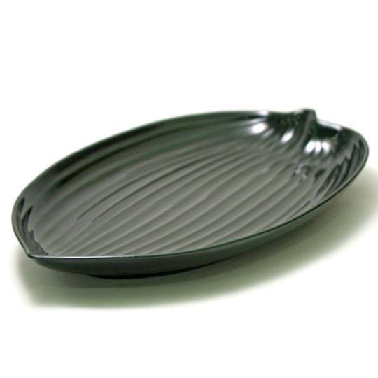笹波鉢 緑  漆器の中鉢