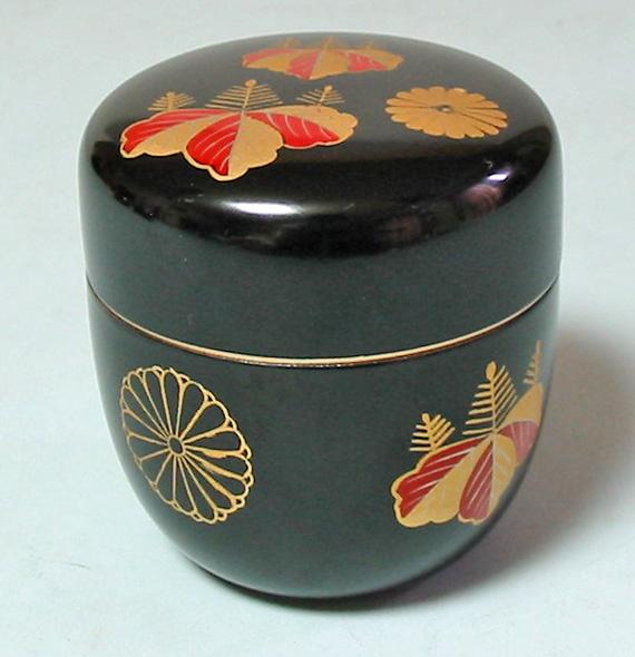 中棗 黒高台寺 (製造中止) 漆塗り お茶道具