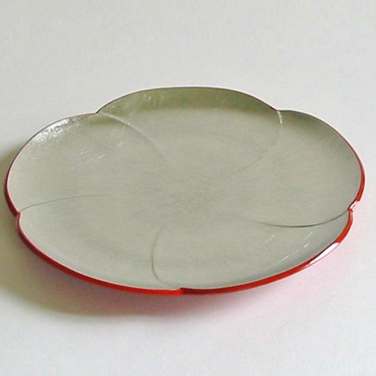 福梅皿 銀箔 中皿