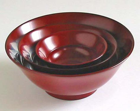 三つ組華鉢(製造中止) 漆塗り