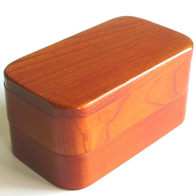 木製江戸二段弁当箱 木のランチボックス