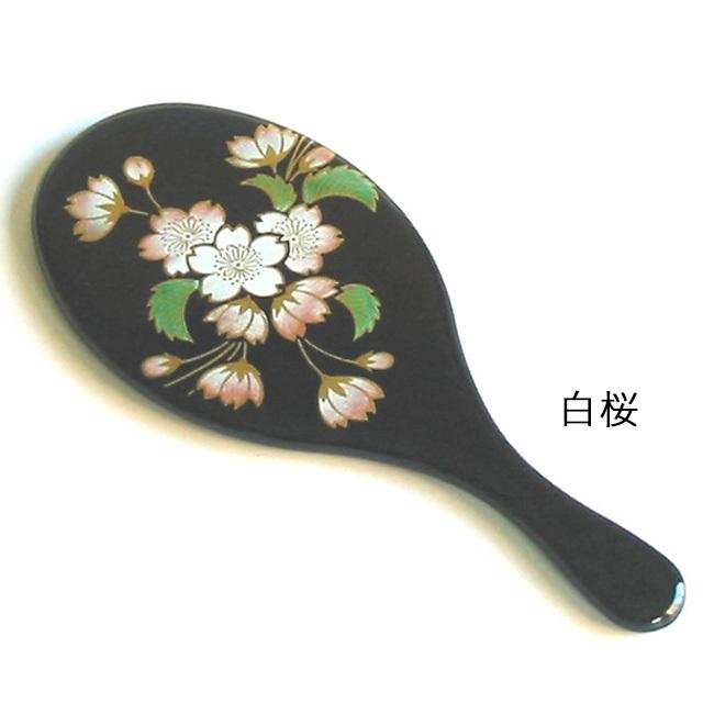 小判コンパクト手鏡 漆塗りハンドミラー